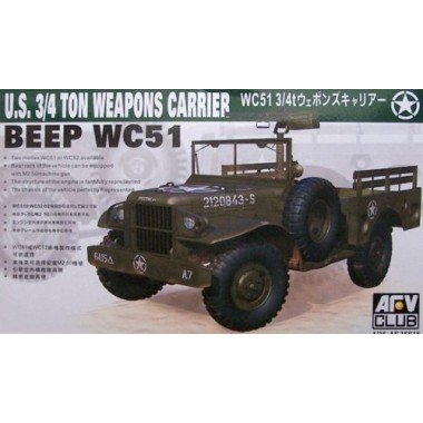 WC51 3/4-Ton 4x4 Weapons Carrier US Jeep 1-35 AFV Club -
