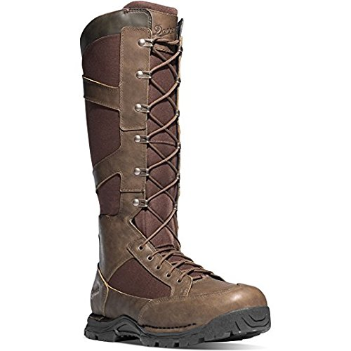 Danner Snake Boot Side-Zip 17'' Brown Hunting Boots | Gore-TEX (GTX) Waterproof Hiking Leather Boots | Footbed Ortholite Hunter Modern Battlefield Combat Boot (11)