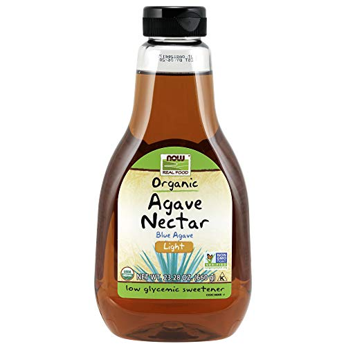 - NOW Foods Light Organic Agave Nectar,23.2-Ounce
