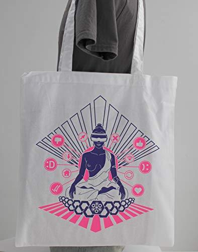 Meditation 2.0. Bolsa blanca de tela: Amazon.es: Handmade