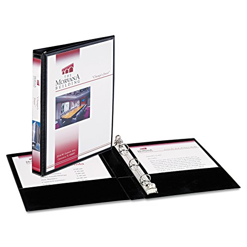 Avery Mini Durable View Binder for 5.5 x 8.5 Inch Pages, 0.5 inch Round Ring, 1 Binder - Black ()