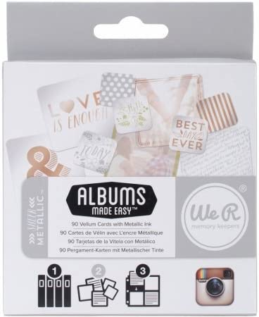We R Memory Keepers IJC-62365 インスタグラムアルバム 簡単日記カード 薄手メタリック 90枚パック