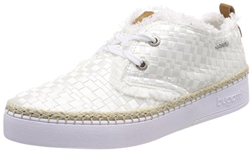 A 421448026959 Alto Donna Collo Brown Sneaker white Bianco Bugatti qEfWdFwq