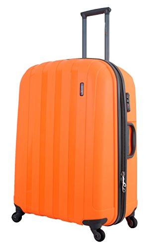 """Luggage X Hard Sided Polypropylene Lightweight Trolley Suitcase (30"""" + 26"""" + 22"""", Orange)"""