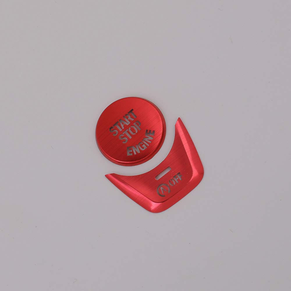 Aluminum Alloy Car Start Stop Engine Switch Button Trim Cover for BMW New 5 Series G30 2017 2018 red Autobro