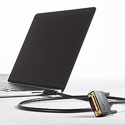 AmazonBasics HDMI Input to DVI Output Adapter Cable - 6 Feet (Latest Standard)