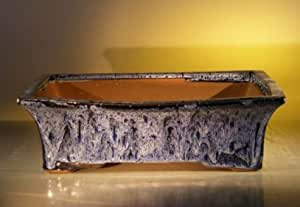 Bonsai Boy de mármol azul cerámica Bonsai olla–rectangular 10x 8x 3