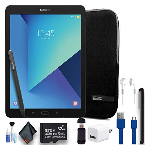 """Price comparison product image Samsung 32GB Galaxy Tab S3 9.7"""" Wi-Fi Tablet (Black) W / Padded Case,  32GB Memory Card,  Ear Buds,  Stylus Pen,  Power Cube,  and More. - Pro Bundle (SM-T820NZKAXAR)"""