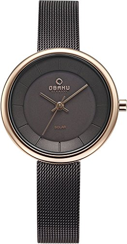 OBAKU watch LYS WALNUT solar 3 needle V206LRVNMN Ladies