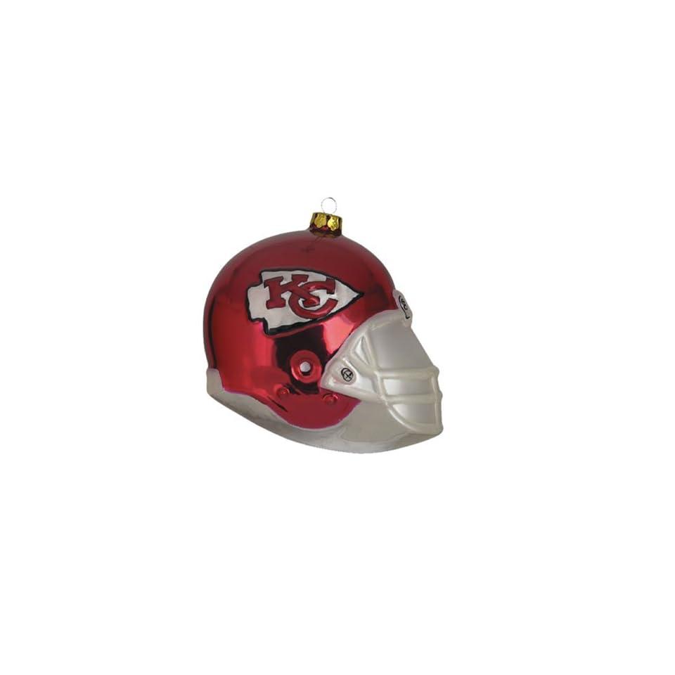 BSS   Kansas City Chiefs NFL Glass Football Helmet Ornament (3 inches)
