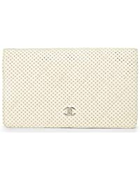 bf57af7c99dd White Quilted Perforated Leather Wallet (Pre-Owned) · CHANEL