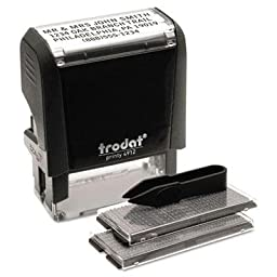 Trodat - Self-Inking Do It Yourself Message Stamp 3/4 X 1 7/8 \