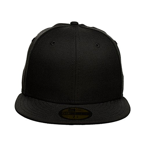 Men/'s Blank Cap New Era Plain Tonal 59Fifty Fitted Hat Black