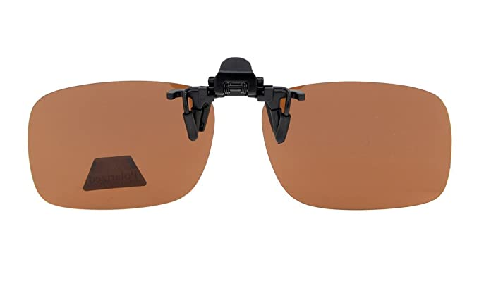 Amazon Com Eyekepper Flip Up Clip On Sunglasses Polarized X  Pack Metal Glasses Clip Brown Clothing