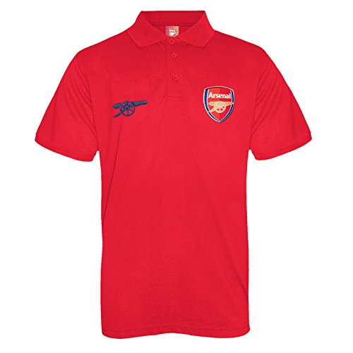 Arsenal Club - Arsenal Football Club Official Soccer Gift Mens Crest Polo Shirt Red 3XL