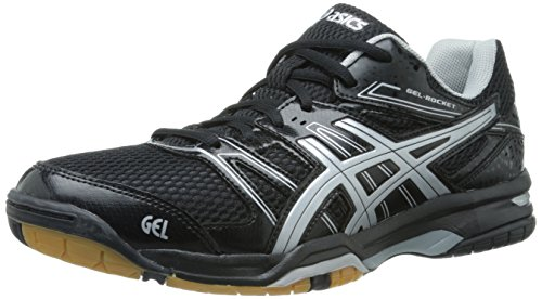 ASICS Women's Gel Rocket 7 Volley Ball Shoe,Black/Silver,9 M US