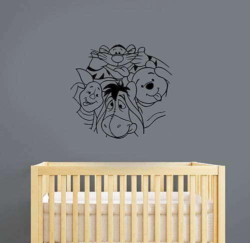 Winnie The Pooh and Friends Wall Sticker Piglet Tigger Eeyore Vinyl Decal Cartoon Characters Art Decorations for Home Baby Kids Room Bedroom Animal Decor Ideas wtpo16 -