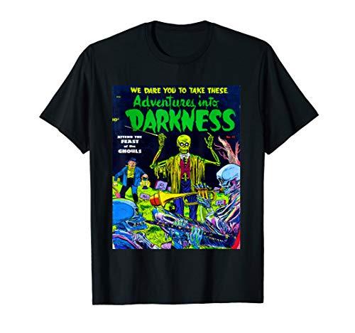 Skeleton Band - Vintage Horror Comic Book T Shirt