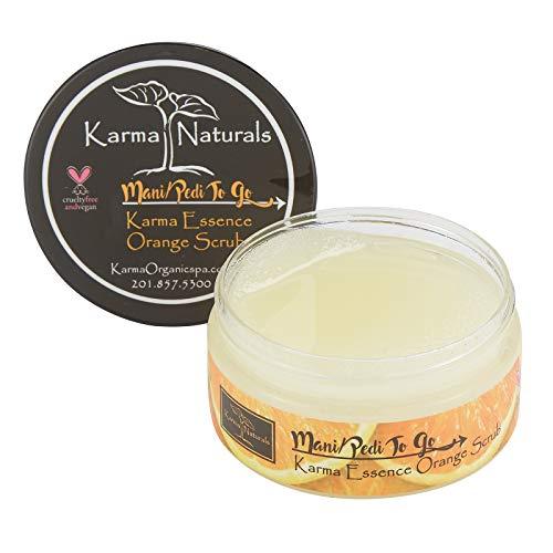 - Karma Organic Essence Orange Scrub- prevents moisture loss and softens the skin