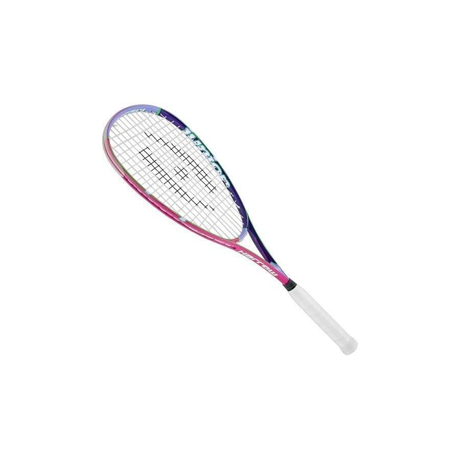 Harrow 65811311 Junior Squash Racquet, with 1/2 Cover, Pink/Purple