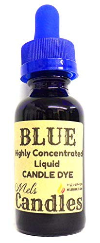 Liquid Candle Dye (Blue) - 1oz Amber Glass Dropper Bottle with Childproof Lid Premium Dye for All Waxes Exp Soy Wax