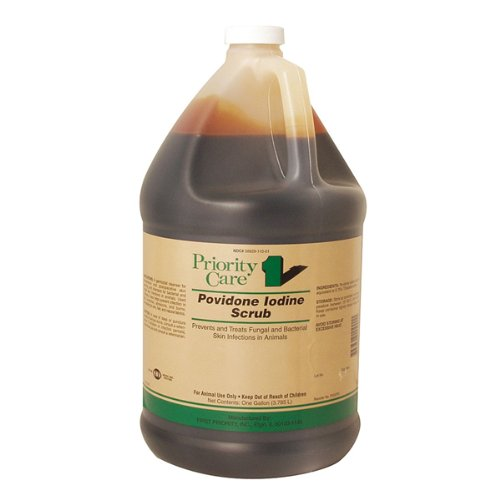 First Priority Povidone Iodine Surgical Scrub, 1 Gallon (3.785 Liters)