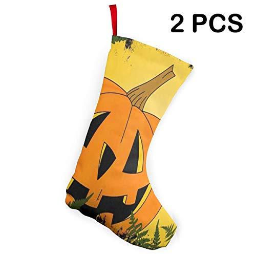 (Ladninag Christmas Stockings Happy Halloween Funny Pumpkin Cool Christmas Party Socks 2)