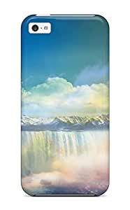 Hkbtlvw1040AZtwb Hxy Awesome Case Cover Compatible With Iphone 5c - Waterfalls In Dreamland by heywan
