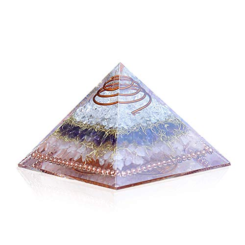 Flower of Life RCA Orgone Copper Pyramid for EMF Protection-Meditation-Yoga-Psychic-Heart Chakra Healing
