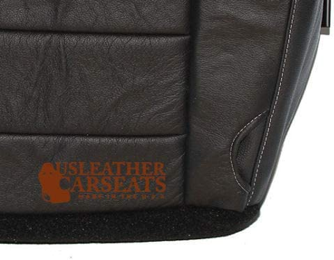 Passenger Side Bottom Leather Seat Cover Black 08-10 Ford F250 F350 Lariat Bucket