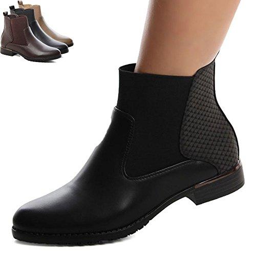 Stiefeletten Khaki Boots topschuhe24 Damen Chelsea 586 B1xqwwnIUP