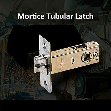 SENRISE perno de puerta, 2 piezas de pestillo de puerta de acero inoxidable invisible tipo puerta Hradware para uso con manijas de puerta de palanca