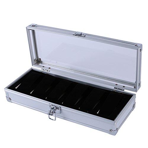 Norbi Aluminium 6 Grid Watch Storage Case Bracelet Storage Display Box Gift Package (Aluminum Display Case compare prices)