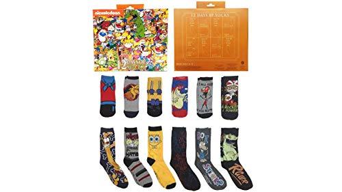 Nickelodeon - Calendario de Adviento para hombre, diseño de esponja y más de 12 días