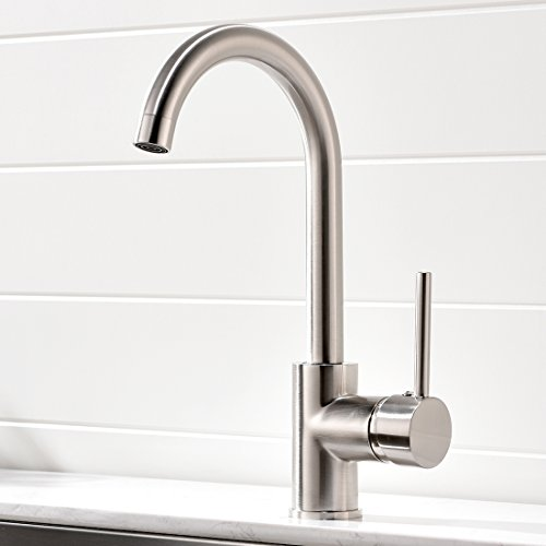 Aimadi Commercial Bar Sink Faucet - Stainless Steel Single Handle Hot and Cold Kitchen Sink Faucet,Brushed Nickel by Aimadi
