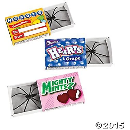 Spider in Valentine Day Candy Box Prank Gag Classroom (1 Doz) Sales