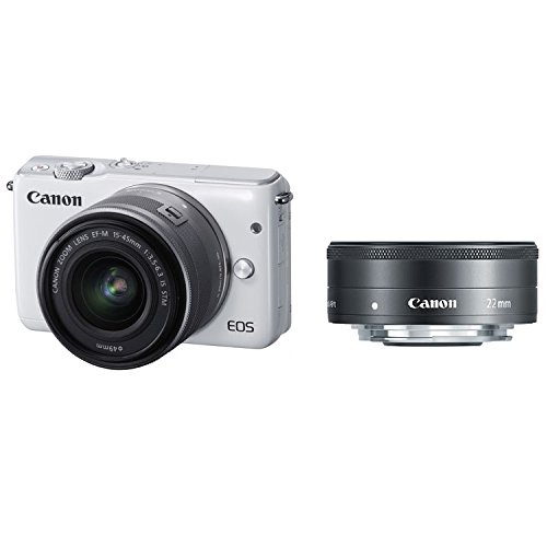 Canon-EOS-M10-Mirrorless-Digital-Camera-with-15-45mm-and-22mm-Lens-White-International-Version-No-Warranty