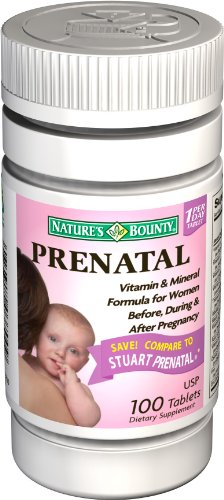 Nature's Bounty Prenatal Vitamins, 100 Tablets (Pack of 2)