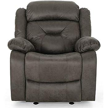 Brilliant Amazon Com Noble House Kearney Glider Recliner In Slate And Short Links Chair Design For Home Short Linksinfo