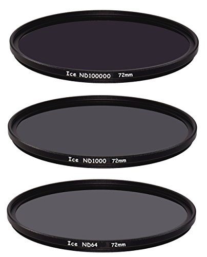 ICE Extreme ND Filter Set 72mm ND100000 ND1000 ND64 Neutral Density 72 16.5,10, 6 Stop Optical Glass