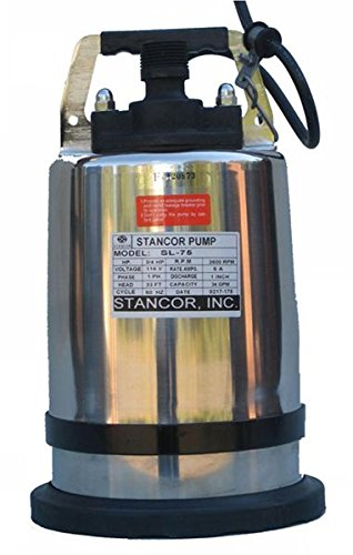 STANCOR-SSD-752301-Avenger-Series-Submersible-Dewatering-Center-Line-Discharge-Pump-Model-230V-1-Phase-34-Hp-2-Discharge-50-Cable