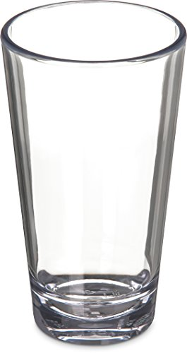 Carlisle 561607 Alibi Heavy-Weight Plastic Pint/Mixing Glass, 16 oz ()
