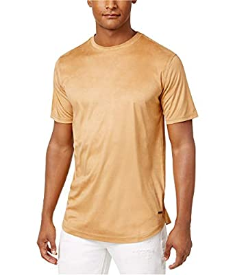 Sean John Men's Suede Short-Sleeve T-Shirt