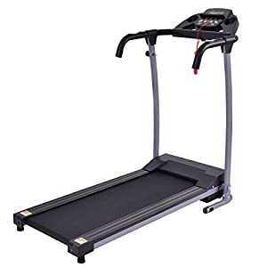 Goplus 800W Folding Treadmill Electric Motorized Power Fitness Running Machine W/ Mobile Phone Holder