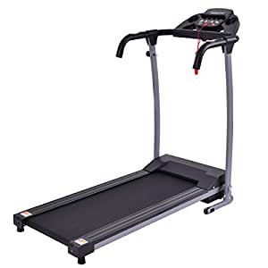 Goplus 800W Folding Treadmill Electric Motorized Power Fitness Running Machine W/ Mobile Phone Holder (Black)