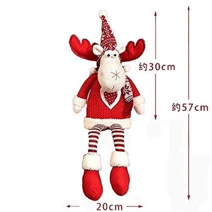 ZHRUI Navidad Papá Noel Muñeco de Nieve Reno Figuras Chiristmas Novedad Decoraciones (Color : Beige, tamaño : S) tamaño : S)