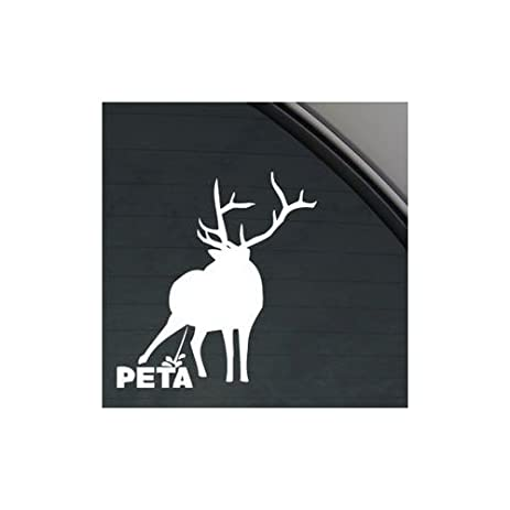 piss on peta window sticker