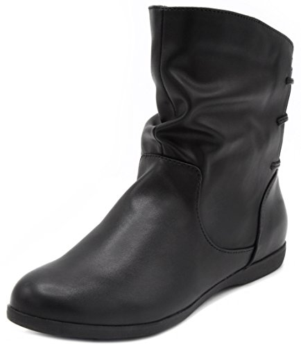Sugar Women's Brooke Slouched Flat Ankle Boot Bootie 8 Black