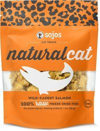 Sojos 557113 Natural Cat Salmon Treat, 1 oz