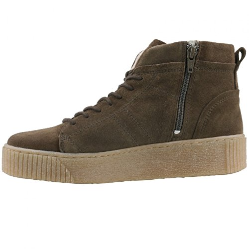 TAMARIS Damen Plateau High-Top Sneakers Grün (Khaki)